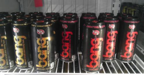 Cold energy drinks at our gas station convenience store.